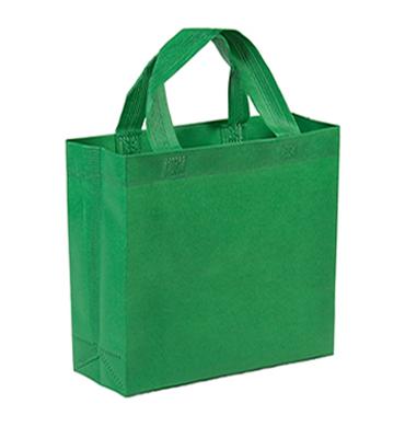 bolsa notex ecologico rojo con fuelle verde 40x40x10 fuelle