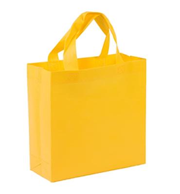 bolsa notex ecologico rojo con fuelle amarillo 40x40x10 fuelle
