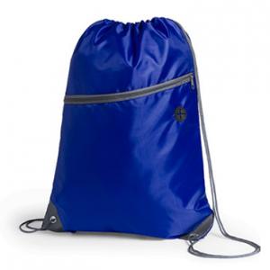 Mochila Poliester 210D / Bolsillo lateral con cierre / Salida Audifonos azul