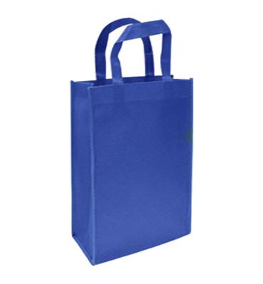 bolsa notex ecologico con fuelle azul